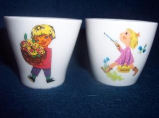 Two egg cups