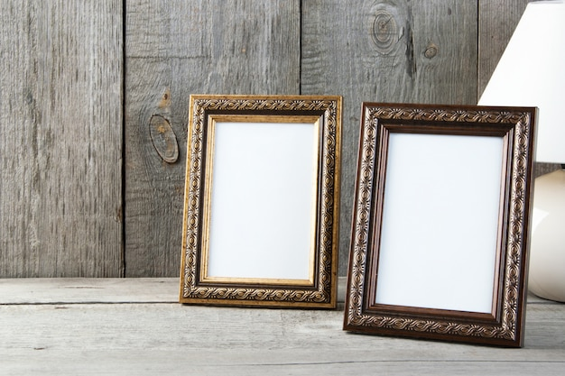 Two empty picture frames