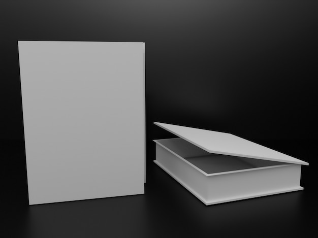 Two empty white boxes on a dark background.