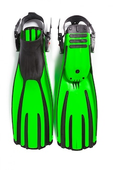 Two flippers for diving