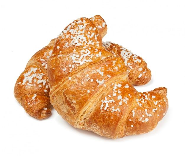 Two fresh croissants