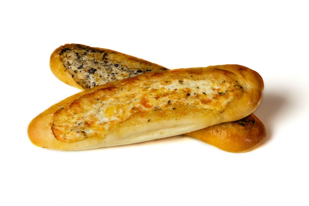 Two fresh french mini-baguette