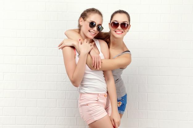 Two friends posing