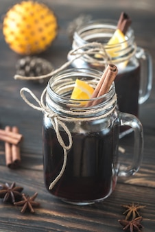 Two glasses of mulled wine