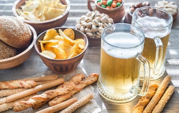 前菜とビール2杯