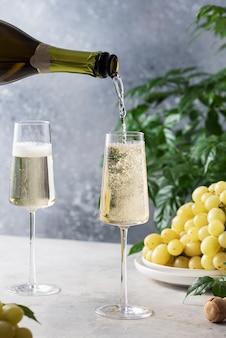 スパークリングシャンパン2杯