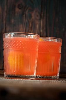 Two glasses of orange blossom cocktail