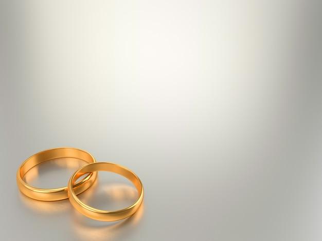 2つの黄金の結婚指輪