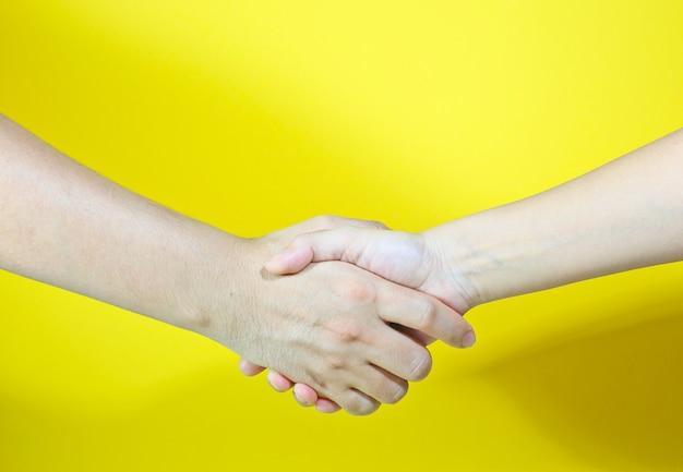 握手する両手