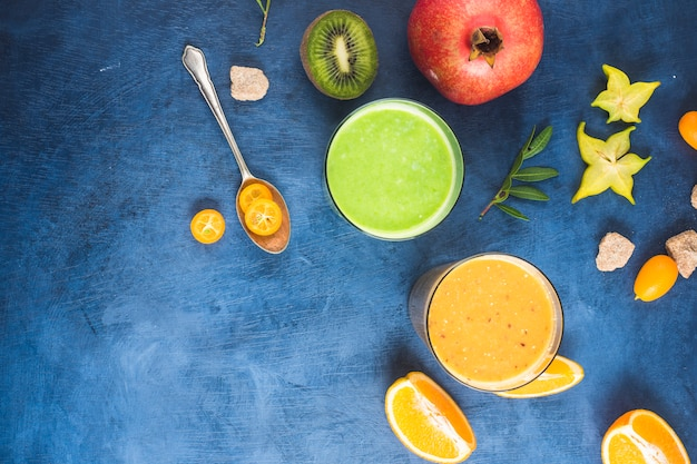 Two healthy and delicious smoothies