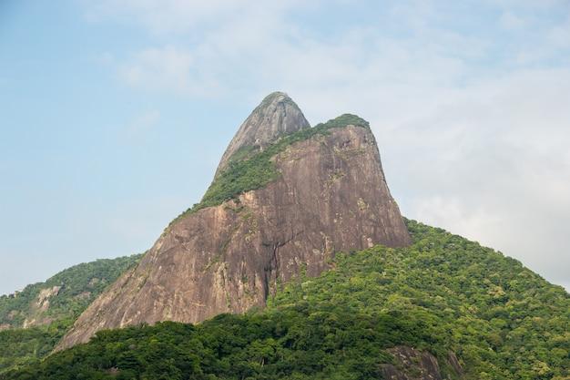 リオデジャネイロブラジルのレブロン地区にある2人の丘の兄弟。