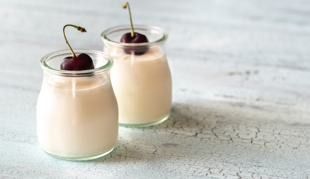 Two jars of greek yogurt