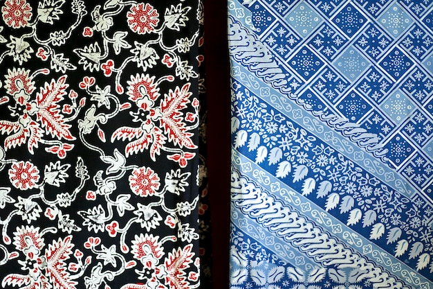 Two kind of indonesian batik