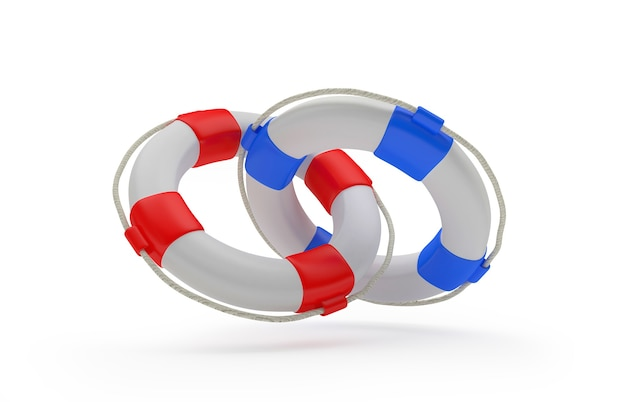 Два спасательных круга связаны
