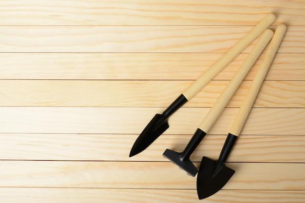 Две маленькие лопаты и грабли