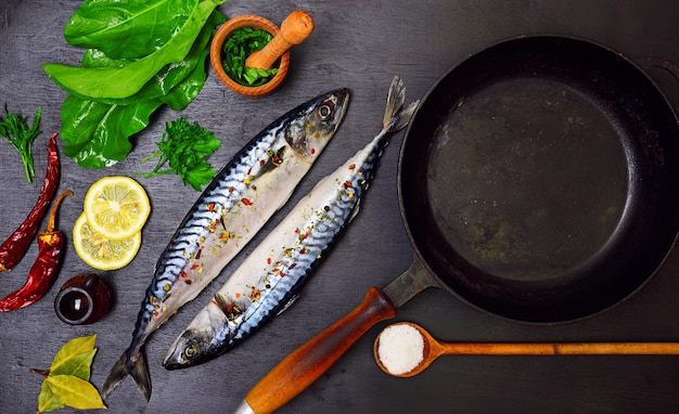 Two mackerels in spices