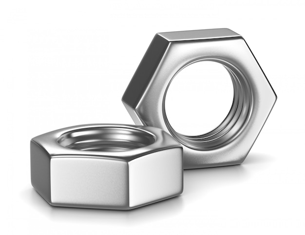 Two metal nut