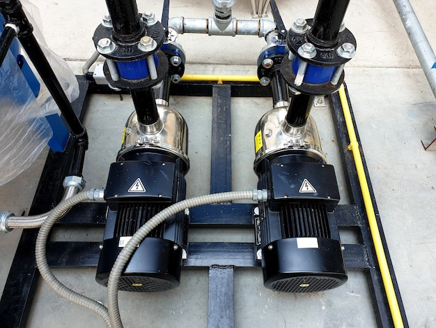 태양열 옥상 워터 펌핑 시스템용 모터 워터 펌프 2개