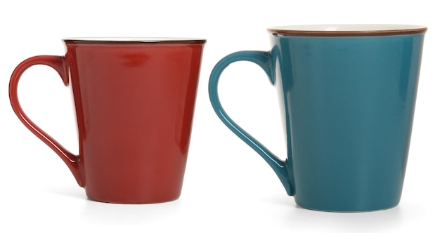 Two mugs isolated on white