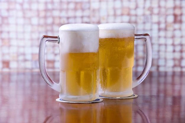 시원한 맥주 두 잔