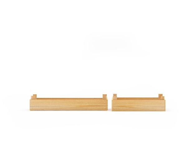 Два узких деревянных ящика