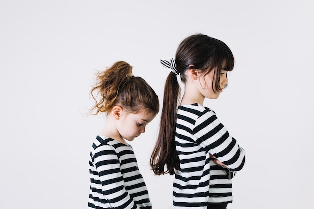 Two offended sisters Premium Photo