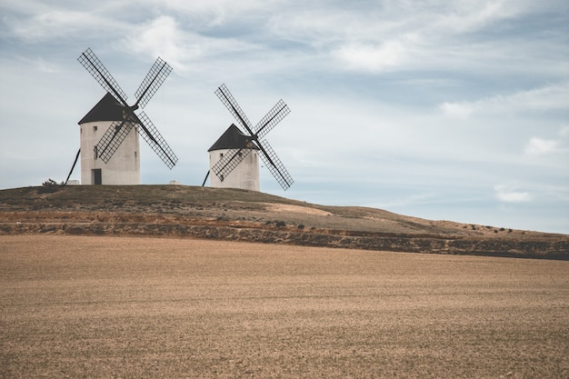 Two old windmills