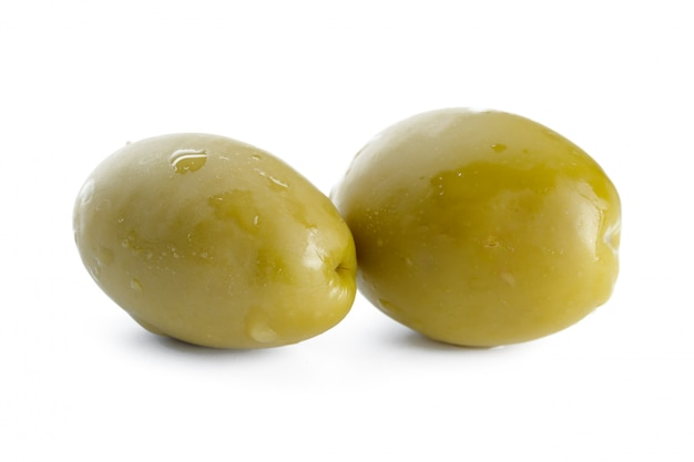 Two olive isolated