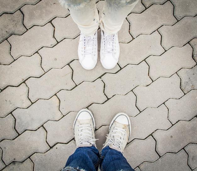 Two pairs of sneakers sneakers