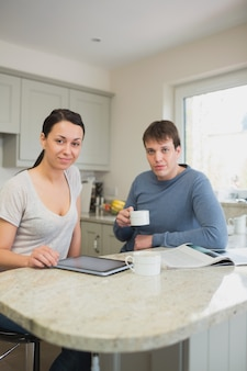 Two people spending time together with a cup of coffee