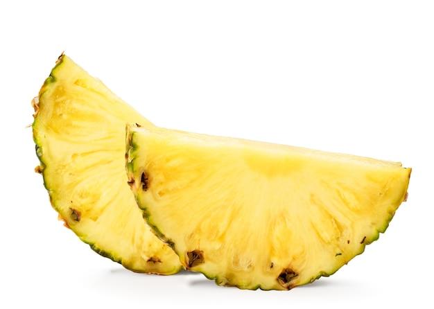 白地に熟したパイナップル2個