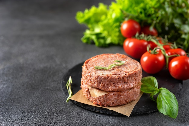 Two raw vegan patties