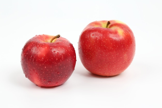 Two red apple isolated