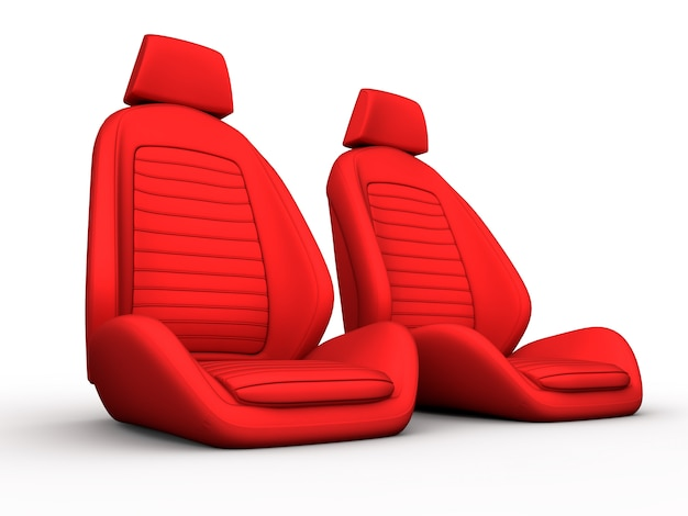 Two red car seat