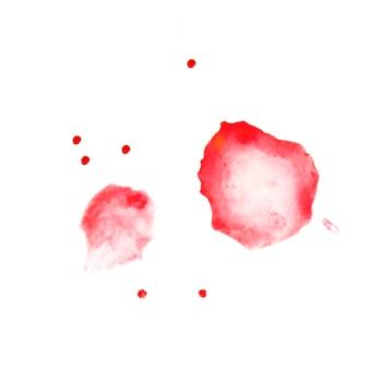 2つの赤い水彩画