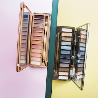 Two sets of eyeshadow