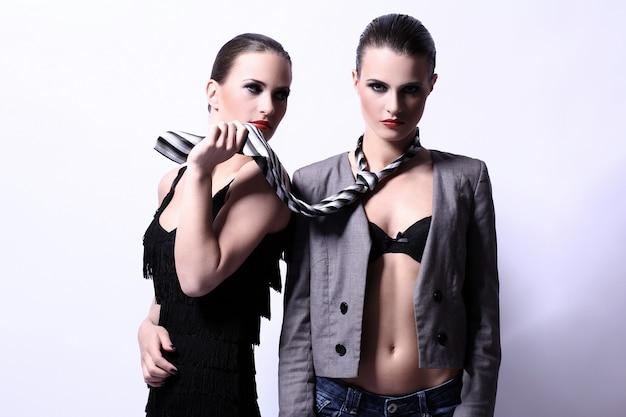 Two sexy women posing