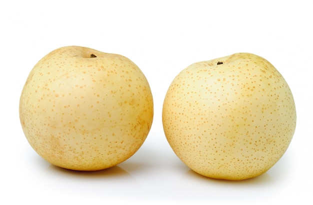 Two snow pear isolated