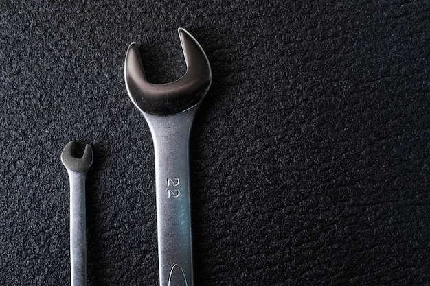 Two spanners wrench for professional car repair