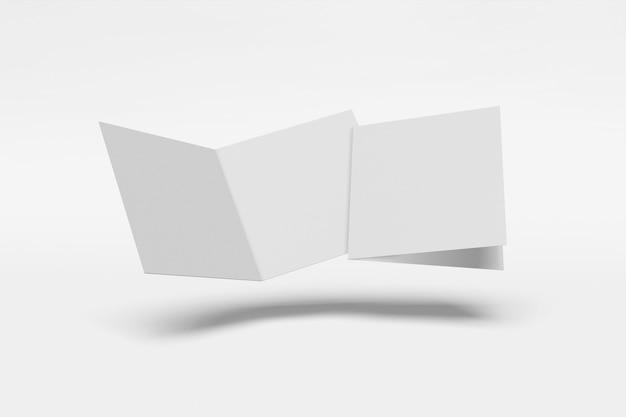 두 개의 사각형 책자 흰색 절연