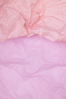 Two-tone pink crumpled paper texture, pink background, wallpaper, verticall