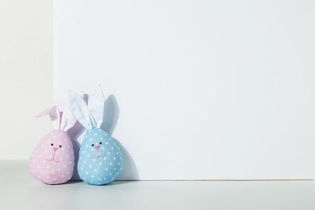 Две игрушки кролики своими руками розовые и голубые