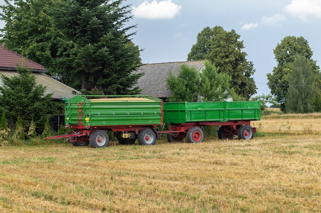 Two trailers on a farm