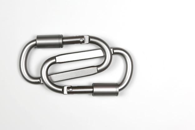두 유나이티드 회색 등반 carabiner 절연