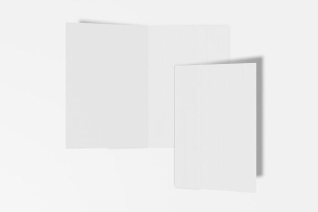 흰 배경에 고립 된 두 개의 수직 소책자