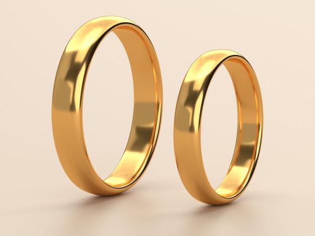 두 결혼 금 반지는 서로 사랑 개념 거짓말