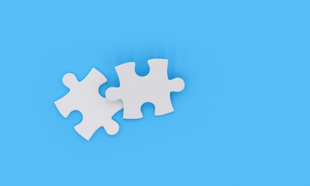 Two white jigsaw pieces