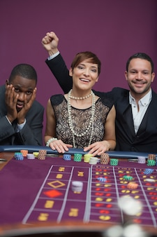 Two winners and a loser at roulette