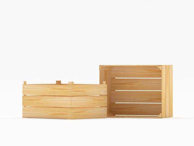 Два деревянных ящика в разных положениях