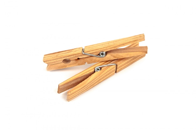 Two wooden clamps